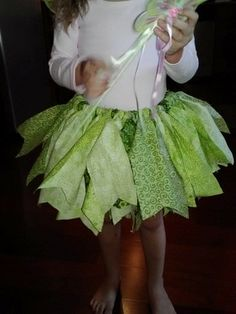 Beautiful Tinkerbell Fabric TUTU/ Tinkerbell Costume SKIRT. $25.00, via Etsy.