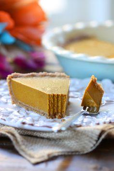 Vegan Pumpkin Pie, no-bake  gluten-free, grain-free, egg-free, dairy-free
