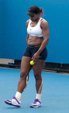 Serena Williams - Serena Williams practica su swing