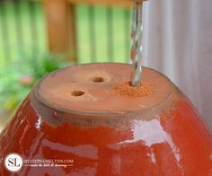 How to drill flowerpot drainage holes in ceramic or clay pots.