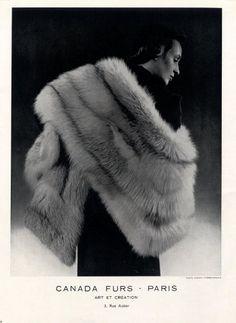 Canada Furs 1950 Fashion Photography Fur Coat