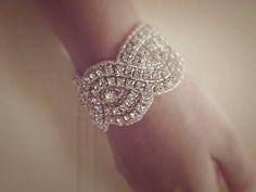 SO pretty! Lilliana Crystal Bracelet Wedding Bracelet Bridal Bracelet from Sparklelacecouture