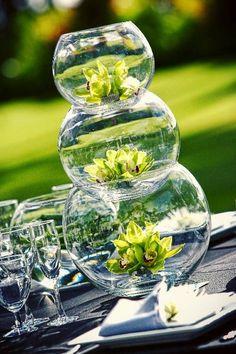 fish bowl wedding flower centerpiece