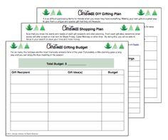 Christmas Gifting Budget Planner printable financial planner printables, christma gift, budget planner, christma organ