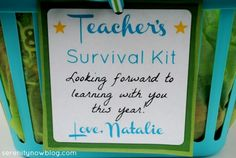 Tag for Teacher's Survival Kit, from Serenity Now