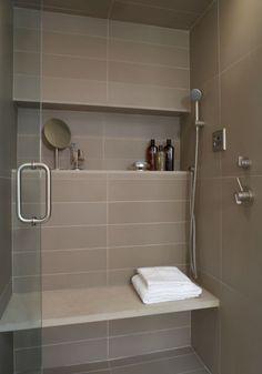 Tiles, faucets, shelf..