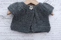 Cardigan/Sweater in Grey for Doll sized approx by TheDollsWardrobe, £10.00