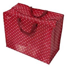 Jumbo storage bag in red retrospot design. Great for storing sleepover bedding, clothes and laundry or use as a toy or boot tidy £6.50