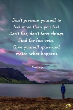 """Don't pressure your"