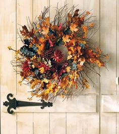 Cute Fall Wreath | Find Fall Outdoor Decorations and other Fall Ideas on @joannstores