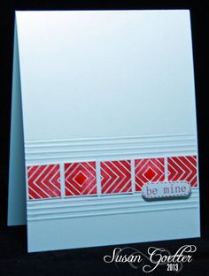clean and simple handmade card ... luv the graphic look ...