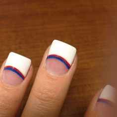 Texas rangers acrylic nails!