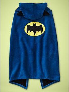 Batman towel cape  $39.95  www.junkfoodclothing.com