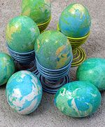 Earth Day Eggs  #Easter #Eggs: 28 Decorating and Fun Ideas