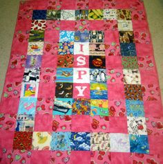 Elizabeth's I-Spy Quilt... and a lesson for me in how to do the binding properly the first time!