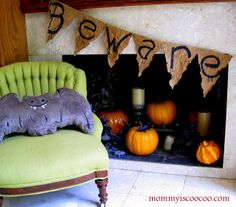 mommy is coo coo: How to Make a Pennant Banner - Really like this.