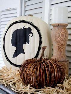 silhouette pumpkin #halloween #fall #decoration