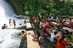 Waterfall Restaurant, Villa Escudero, Philippines.