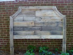 Queen size headboard made from pallets!