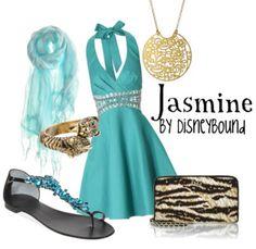 . fashion, disney bound outfits, princess jasmine, disney inspired outfits, disney princesses, disney outfit, the dress, disneybound, aladdin