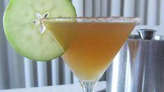 Apple Cider Martini...cinnamon sugar, apple cider, maple syrup, spiced rum.