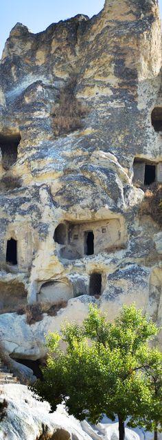 The amazing vertical rock house! #travel #turkey
