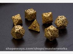 3D printed steampunk dice set.