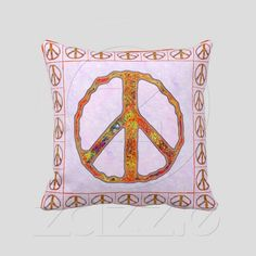 Signs of Peace ~ Psychedelic Orange  - Fun and forthright. Bright Multi-color peace symbols, w/ matching solid Orange on reverse. Makes a great gift.