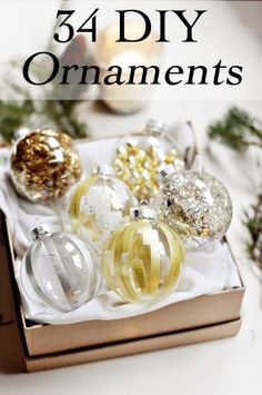 34 DIY Ornament ideas...because I want every ornament to mean something :-)