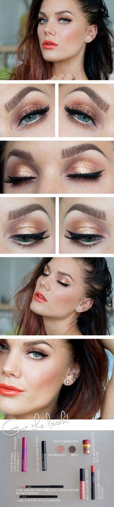 Linda Hallberg orange summer makeup