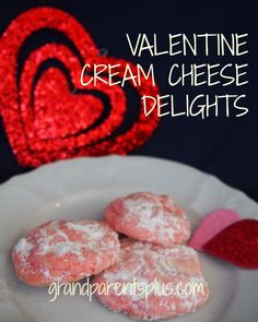 These+pink+Valentine+Cream+Cheese+Delights+are+dangerous!+You+can't+resist+them!+++Just+bite+into+this+flavorful+cookie+with+a+wonderful+chocolate+or+raspberry+surprise+inside!+