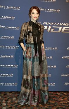 Emma Stone by Valentino at the Rome Premiere of The Amazing Spider-Man 2