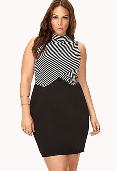 Blurred Lines Bodycon Dress | FOREVER21 PLUS - 2000065398