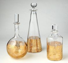 Loving our gold decanters on the @decorist! #DwellStudio #Holiday