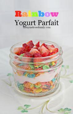 Rainbow Yogurt Parfait
