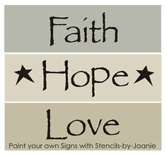 free primitive stencils | Stencils Faith Hope Love Primitive Home Country Signs | eBay