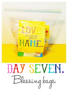 Day 7 ~ Blessing Bags#Repin By:Pinterest++ for iPad#