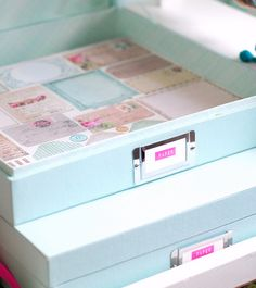 Pretty paper storage boxes