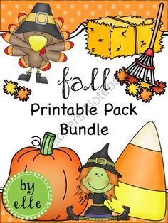 Fall Holiday Printable Pack Bundle from Elementary Elle on TeachersNotebook.com -  (96 pages)  - This bundle includes all 8 of my Fall Holiday Math and Literacy Printable Packs. Each pack includes 10, single-page printables, all of which are educational and skill-based!
