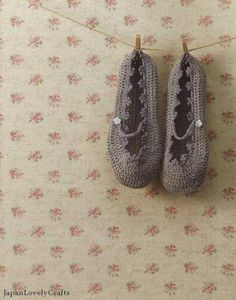 crochet slippers from a japanese book