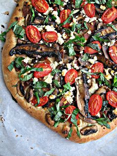 Double Mushroom Pizza with Bacon & Balsamic Drizzle, from SweetSugarBean via the Mushrooms Canada Blog