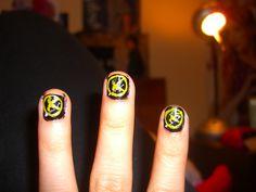 Hunger Games inspired nails. #thehungergames #nails