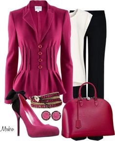 """Louis in deep pink ..."" by mrsbro ❤ liked on Polyvore"
