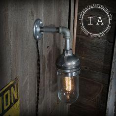 Vintage Industrial Appleton Explosion Proof Pendant Wall Lamp Steampunk Decor. $139.00, via Etsy.
