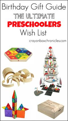 Birthday Gift Guide for Preschoolers that encourages learning math concepts, building, & imaginative play by Crayon Box Chronicles