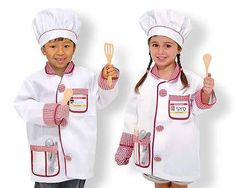 Chef Role Play Costume Set. You might even get a tasty meal out of this one. $30