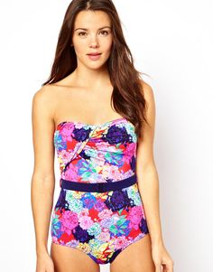 love love love this bandeau swimsuit via @asos $52.62 #spring #summer #style