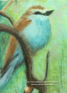bird painting with PanPastel