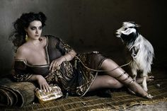 models, johanna dray, plus size, goat, dress, leather jackets, hair, curves, hot dogs