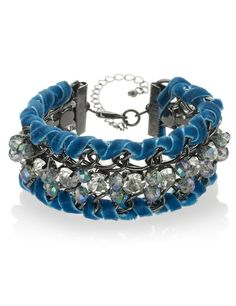 Per Una Diamanté & Multi-Faceted Bead Bracelet